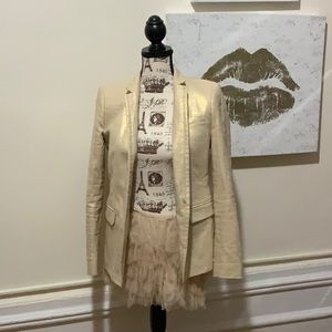 J CREW GOLD jacket size 4